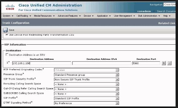 Cisco: CUCM and CUBE Configuration